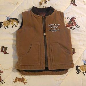 Cowboy Hardware Brown Vest Sz 2T
